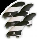 Koalition Surf 5 Fin Quad Thruster Set FCS L