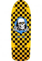 Powell OG Ripper - 30 x 10 - yellow black checked- Skateboard Deck