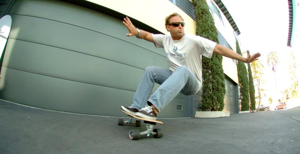 Sean Mattison Surfturn on a Carver Skateboard